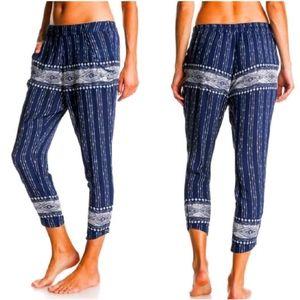 Roxy Beach Pants Tropic Blue Boho Joggers S